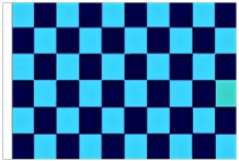 Sky Blue And Navy Blue Check 5' x 3' Larger Sleeved Flag